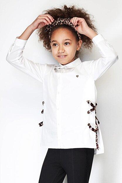 Tyess Kız Çocuk Ekru Gömlek