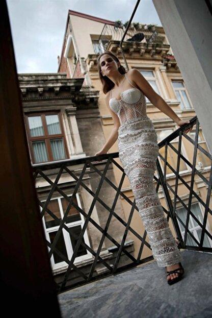 ZALA ALPASLAN Işlemeli Askılı Maksi Elbise