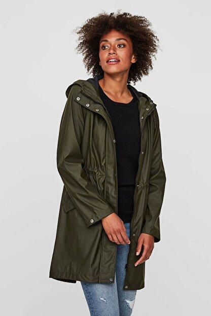 Vero Moda Kadın Haki Yağmurluk 10199174
