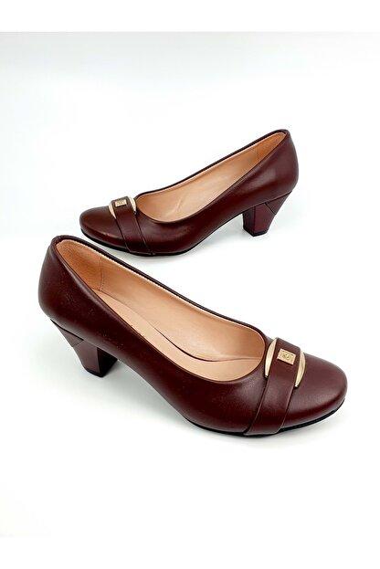 Demirtaş Bayan Topuklu Ayakkabı - Bordo - 38
