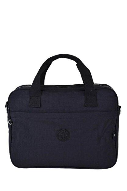 Smart Bags Krinkıl Kumaş Evrak Çantası Siyah