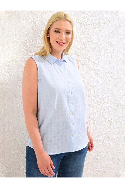 LC Waikiki Kadın Mat Mavi  Gömlek