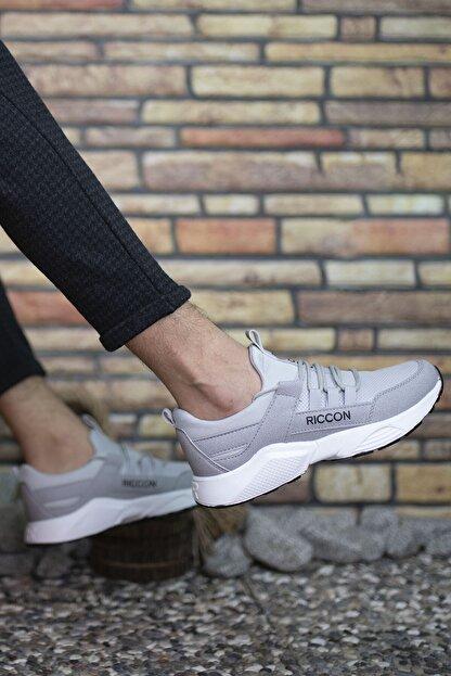 Riccon Erkek Gri Bağçıklı Sneaker 0012072
