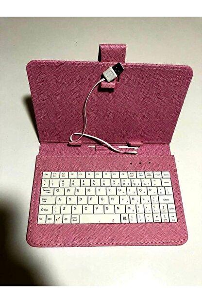 batı 7 Inç Universal Pembe Klavyeli Tablet Kılıfı