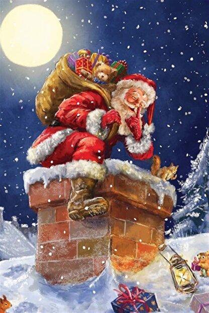 Marcel Kristal Tablo Noel Baba Elmas Mozaik Tablo 36x53cm