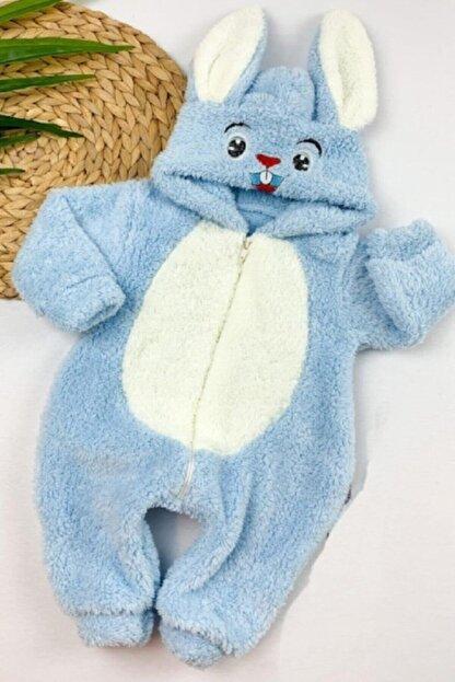 Murat Baby Erkek Bebek Tavşanlı Peluş Welsoft Tulum