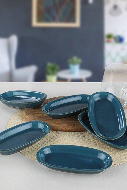 Keramika Safir Hitit Kayık Tabak 16 Cm 6 Adet