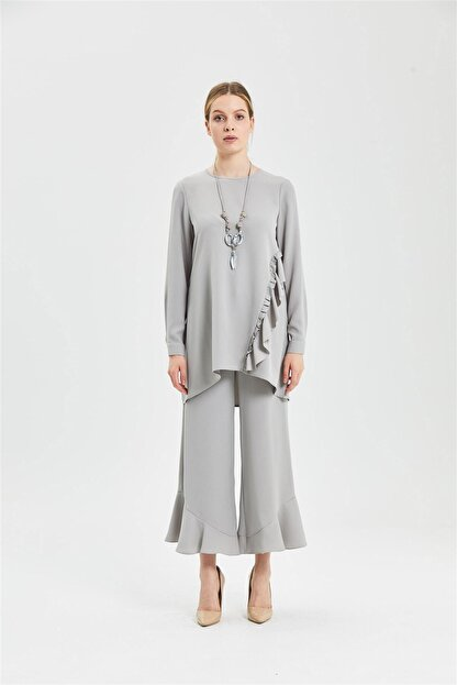 CLIO Collection Tunik Pantolon Takım Gri 20y1543005