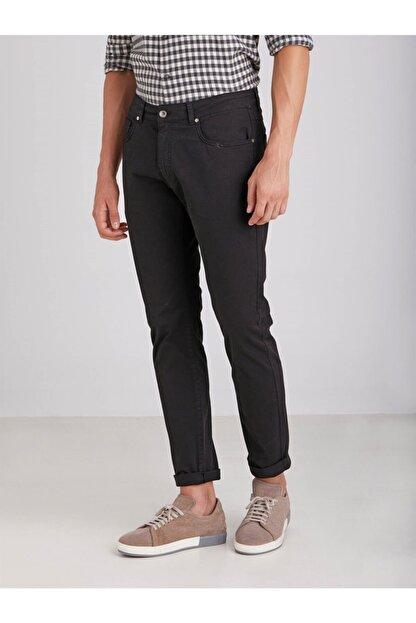 Dufy Siyah Pamuklu Likra Erkek Pantolon - Modern Fit