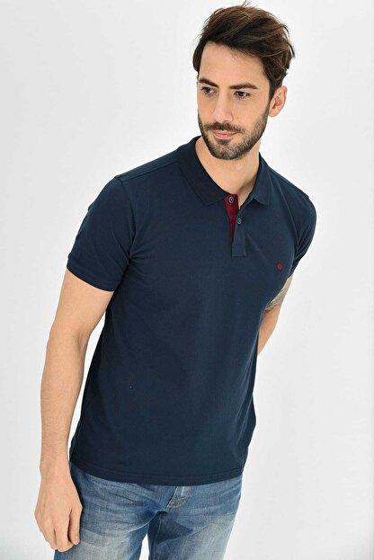 Dynamo Erkek Lacivert Polo Yaka Likralı T-shirt