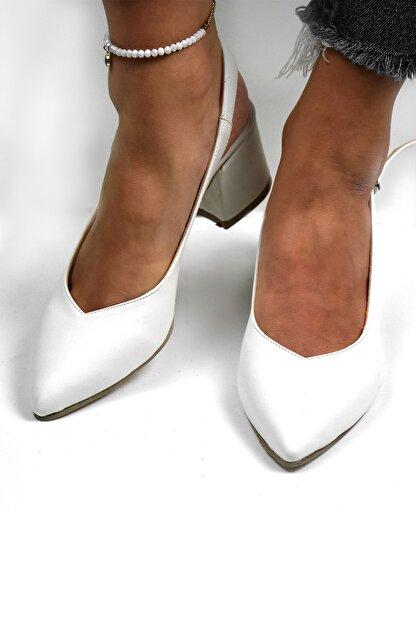 Tenero Shoes Tenero Ayakkabı Beyaz Topuklu Ayakkabı