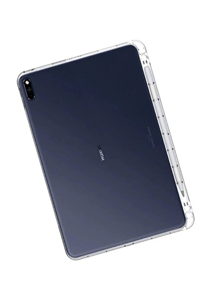 Microcase Huawei Matepad Pro 10.8 Inch Uyumlu Tablet Soft Tpu Kalem Koymalı Silikon Kılıf Şeffaf