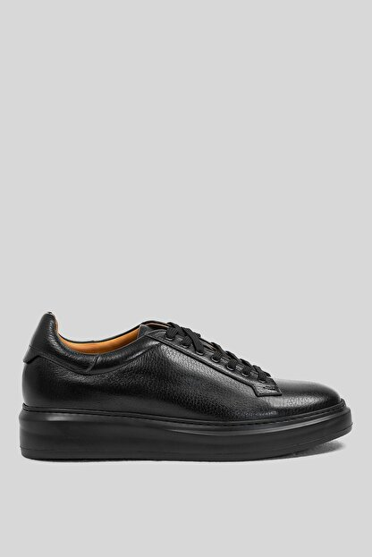 Lufian Plaın Deri Sneaker Siyah