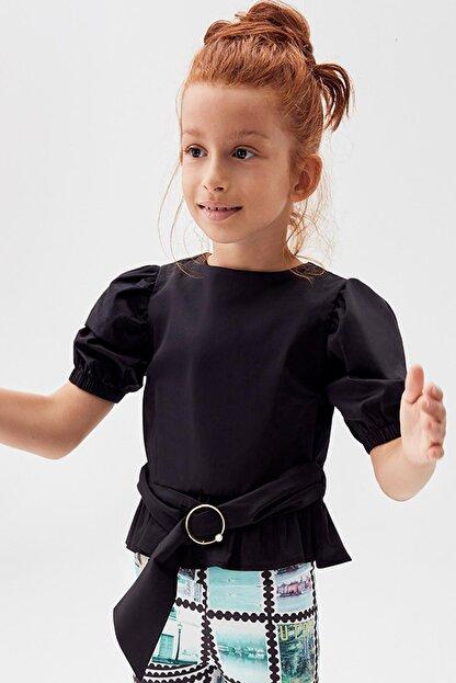 Tyess Kız Çocuk Siyah Bluz 20pfwtj4602