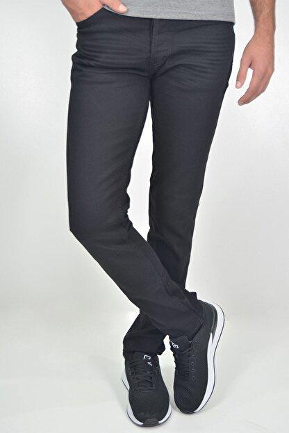 ds danlıspor Erkek Siyah Likralı Hafif Çizgili Kot Pantolon