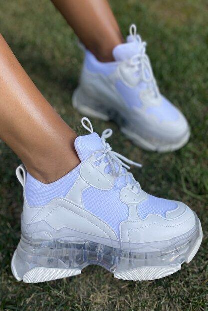 İnan Ayakkabı Bayan Şeffaf Taban Spor Ayakkabı