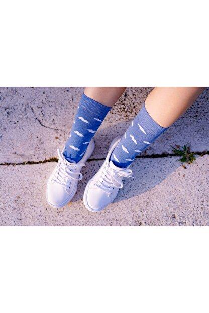 Corapco Bulut Desenli Çorap