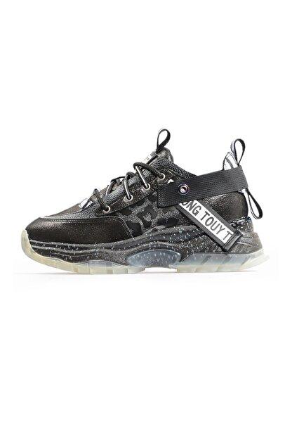 Flower Siyah Şeffaf Tabanlı Sneaker