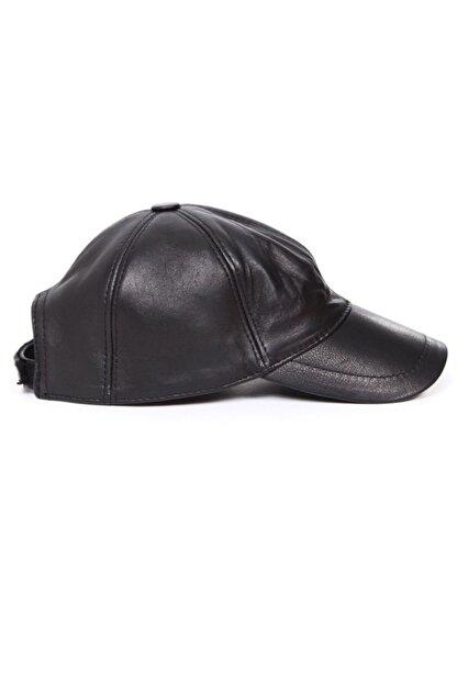 Kapin Siyah Deri Şapka