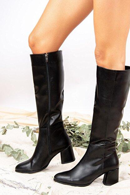 Fox Shoes Siyah Kadın Çizme J848300109