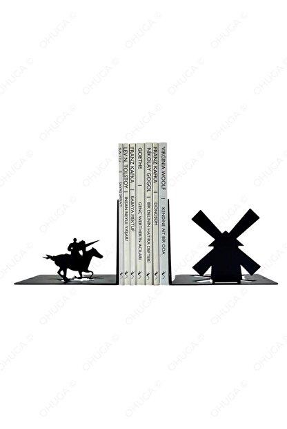 "ohuga Metal Kitap Tutucu ""don Kişot"", Kitap Desteği, Dekoratif Kitaplık"