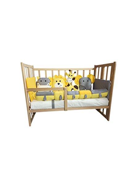 Rimini Baby Smartcrib Doğal Katlanır Beşik+ilk Arkadaşlarım Eğitici Uyku Seti Sarı-gri