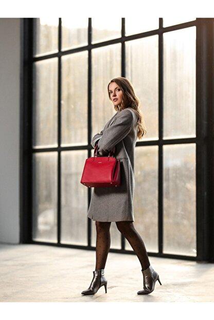 Cengiz Pakel Diana Kadın El Çantası 7188d-kırmızı
