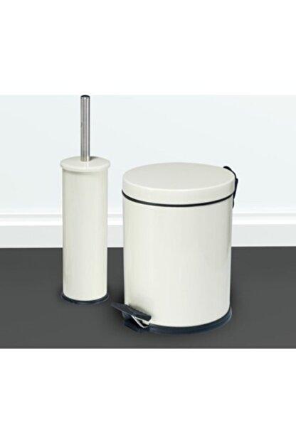Berta Hijyen Berta 2'li Beyaz Banyo Seti Çöp Kovası Tuvalet Fırçası