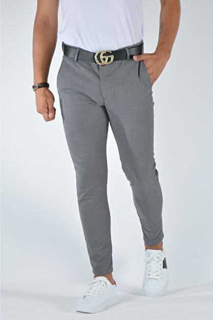 Terapi Men Erkek Slim Fit Keten Pantolon 20y-2200321 Gri