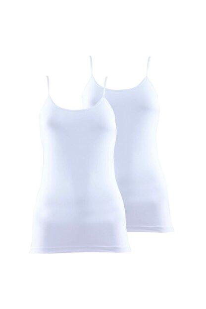 Blackspade Kadın Ince Askılı Atlet 2'li Paket Essential 1591 - Beyaz