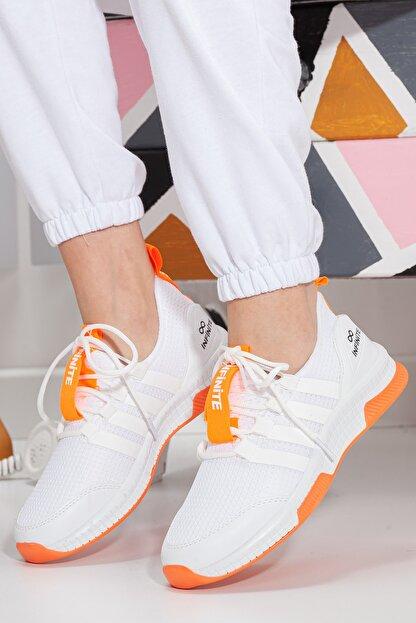 Muggo Unisex Turuncu Sneaker Ayakkabı Mgforce01