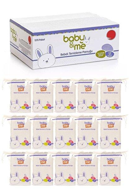 Baby Me Bebek Temizleme Pamuğu %100 Saf Pamuk 60lı Poşet 15 Paket 565rtg-55