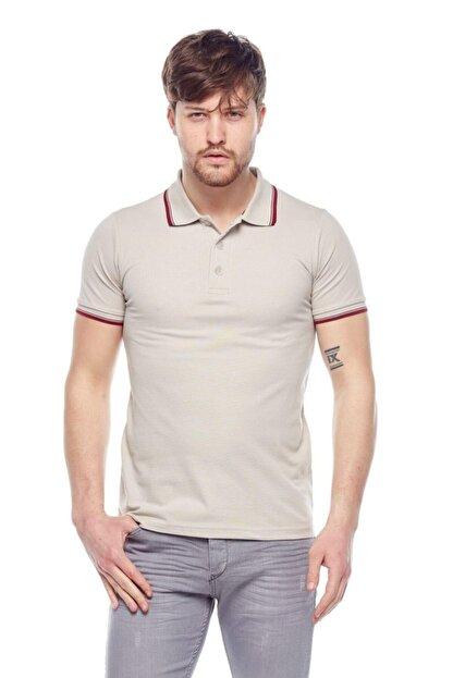 Tena Moda Erkek Taş Polo Yaka Tişört