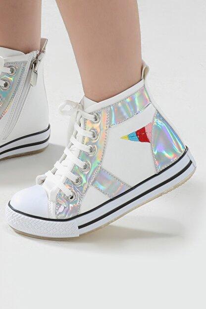ZENOKIDO Unicorn Hologram Detaylı Kız Sneakers Ayakkabı