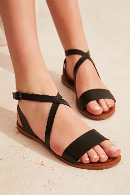 Bambi Siyah Kadın Sandalet L0671404109