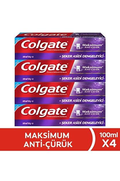 Colgate Maksimum Anti Çürük Diş Macunu 100 ml X 4 Adet