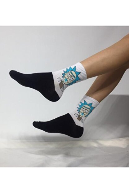 Adel Unisex Rick Desenli Soket (Uzun) Çorap