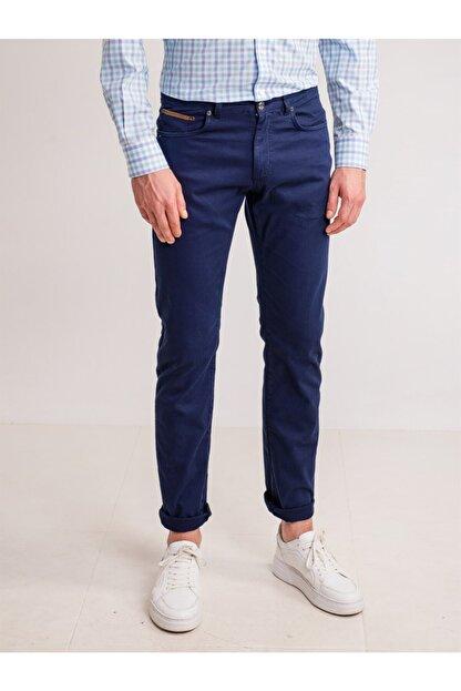 Dufy Lacivert Pamuk Likra Karışımlı Erkek Pantolon - Modern Fit