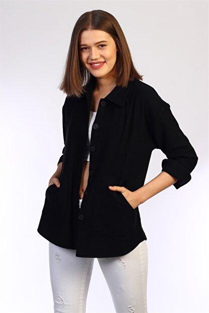 Be Happy Woman Yanları Cepli Düğmeli Oduncu Gömlek