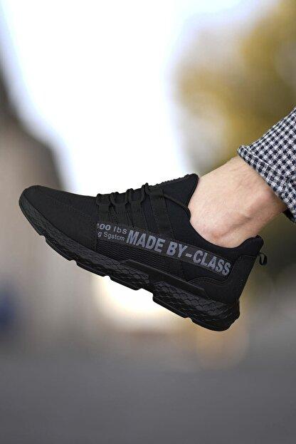 Riccon Siyah Erkek Cilt Sneaker 0012santo