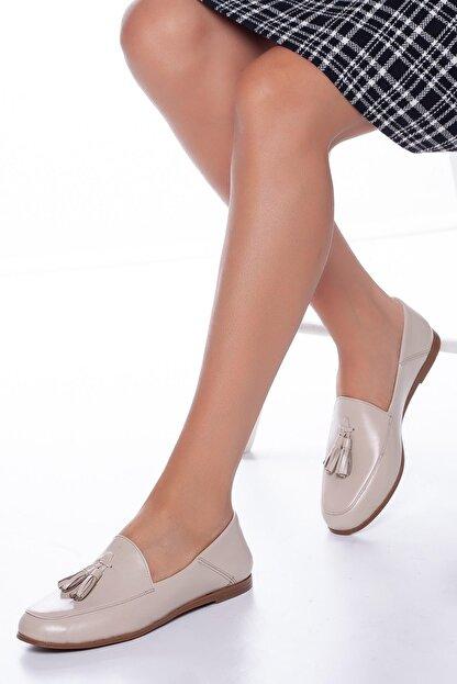 Diego Carlotti Hakiki Deri Günlük Kadın Babet Ayakkabı
