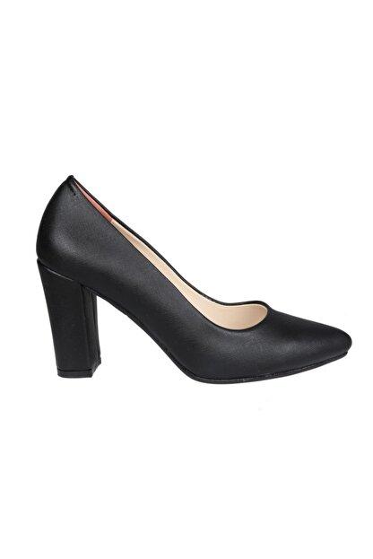 PUNTO 462003 Siyah Rugan Kadın Stiletto