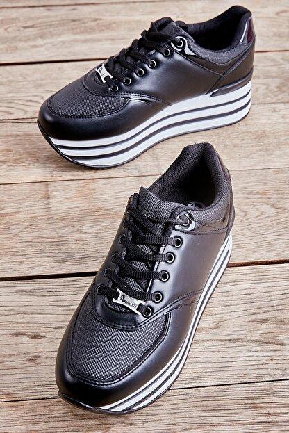 Bambi Siyah Kadın Sneaker L0550121709