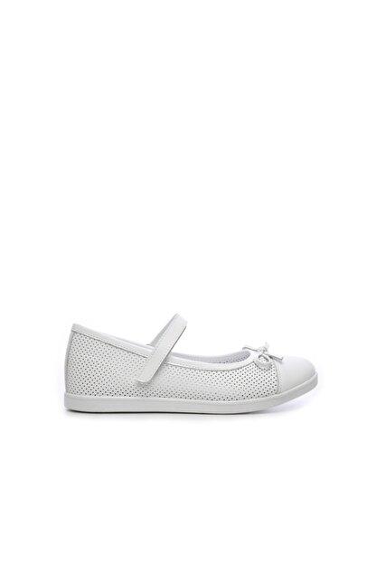 Kemal Tanca Kız Çocuk Beyaz Derı Ayakkabı 406 3015 Cck 26-36 Y19 Babet