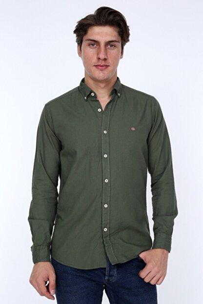 GULF BIRD Oxford Haki Slım Fıt Erkek Gömlek