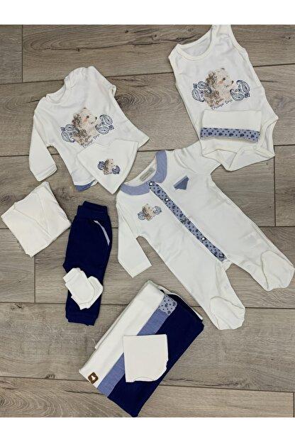Cassiope 10 Parça Mavi-beyaz Erkek Bebek Hastane Çıkışı