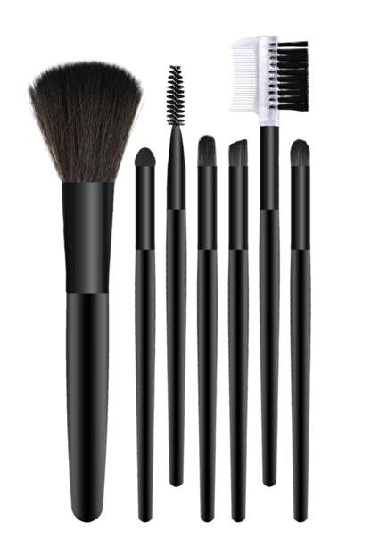 MUJGAN 7'li Makyaj Fırça Seti Siyah Renk