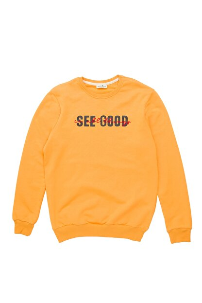 BÖRD&CO. Börd&co Hardal See Good Baskılı Unisex Sweatshirt