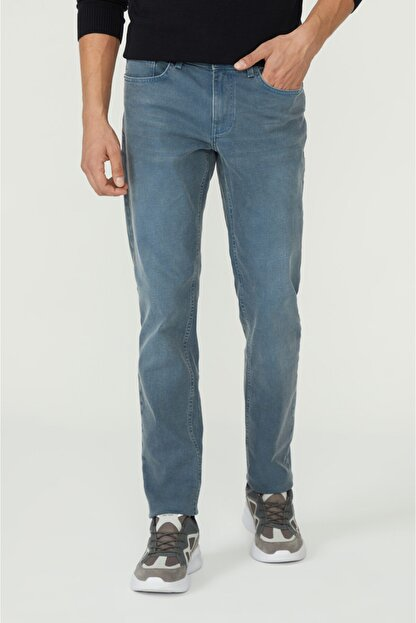 Avva Erkek Mavi Slim Fit Jean Pantolon E003506