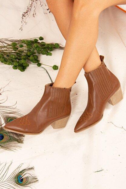 Fox Shoes Taba Kadın Bot J643233709